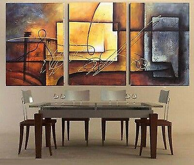 3pieces modern abstract huge wall art oil painting on canvas (no frame)