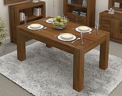 Shiro dining table large six to eight seater solid walnut dark wood furniture
