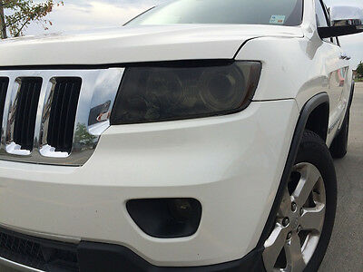 For 2011-2013 Grand Cherokee Smoke Head Light Precut Tint Cover Smoked Overlays