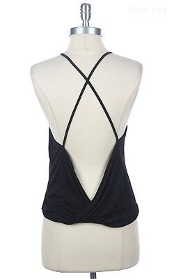 STRAPPY CAMI Open Back Tank Top Sheer Camisole Sexy Shirt Blouse T-Shirt S M L