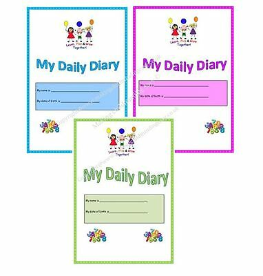 Childminder EYFS A4 MY DAILY DIARY choice of colour