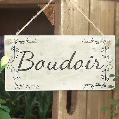 Boudoir - Handmade French Country Style Wooden Bedroom Sign / Plaque