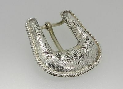 Vintage rare Mexican 925 sterling silver belt buckle for men and for women