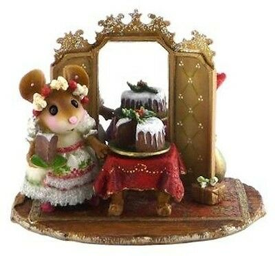 THE ELEGANT HOSTESS by Wee Forest Folk , WFF# M-423, RED Table, Party Mouse