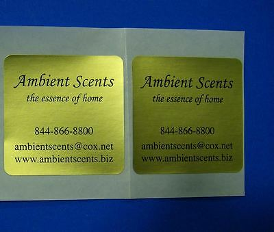 "Printed Square Labels 250 Custom 1-Color Business Stickers 1.75"" x 1.75"" on roll"