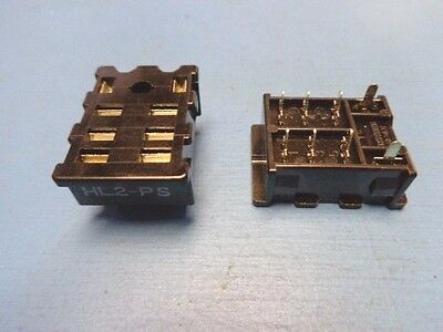 (22) Panasonic HL2-PS Matsushita PCB Mount Relay Socket for HL2 8-PIN NOS NEW