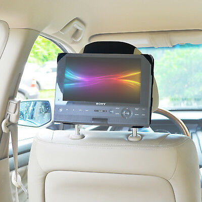 "Car Headrest Mount Holder For 10"" Swivel & Flip Style Portable DVD Player New"