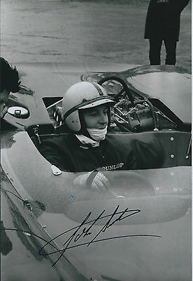 John SURTEES SIGNED Formula 1 Racing Driver RARE 12x8 Photo AFTAL Autograph COA