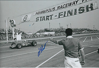 Al UNSER Indianapolis Raceway Winner SIGNED Racing Legend 12x8 Photo AFTAL COA