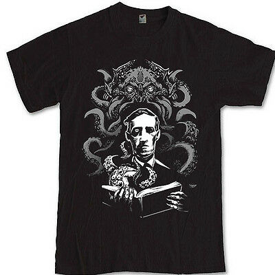 CTHULHU H.P Lovecraft T-Shirt Horror fiction author S M L XL 2XL 3XL Tee