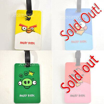 1 X Angry Bird Luggage School Bag Tag Name Label ID SECURITY TRAVEL