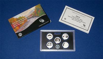 2013 S Silver Proof Quarter Set with Box/COA -FIVE COINS- IN STOCK