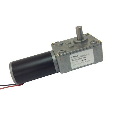 12Vdc 12rpm Small Turbo Worm Gear Motor With Gearbox Reducer 8mm Diameter Shaft