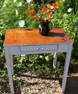 shabby chic oak table arts and crafts art nouveau handle