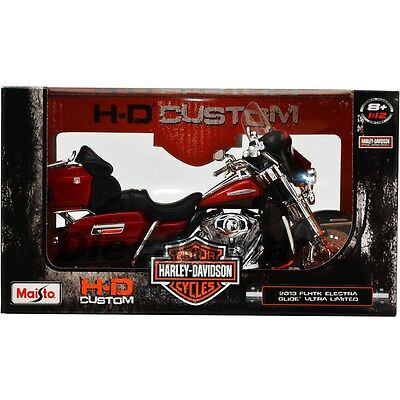 2013 HARLEY DAVIDSON FLHTK ELECTRA GLIDE ULTRA LIMITED RED 1:12 BY MAISTO 32323