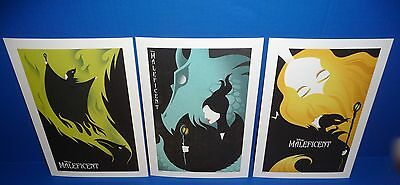 Disney Store Maleficent Lithograph 3 Set Limited Edition of 3000 NEW!!