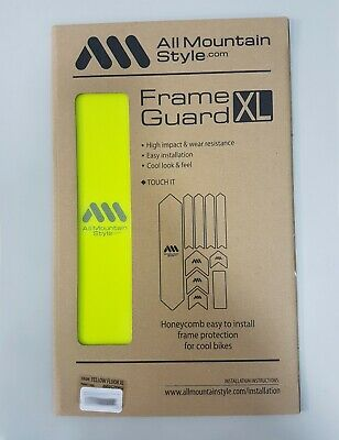 All Mountain Style AMS Honeycomb Frame Guard Protection XL Yellow Fluor