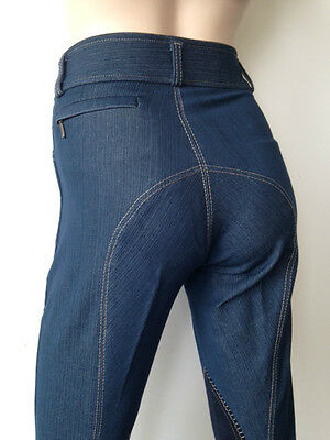 Ladies Denim Breeches, Denim Jodhpurs, Jodphurs, Suede Knee. Sizes 8-18