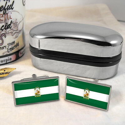 Andalusia Flag Cufflinks & Box