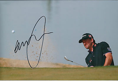 Graeme McDOWELL SIGNED AUTOGRAPH 12x8 Photo AFTAL COA Accenture Matchplay Golf