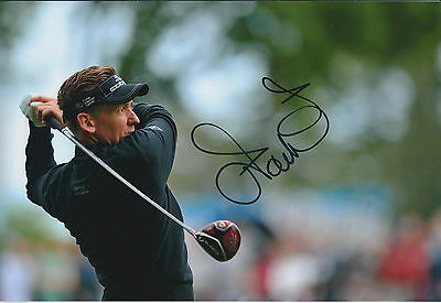 Ian POULTER SIGNED Autograph 12x8 Photo AFTAL COA BMW PGA Wentworth Golf Surrey