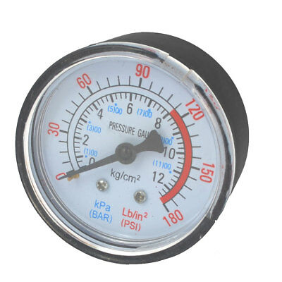 Air Compressor Pneumatic Hydraulic Fluid Vacuum Pressure Gauge 0-12Bar