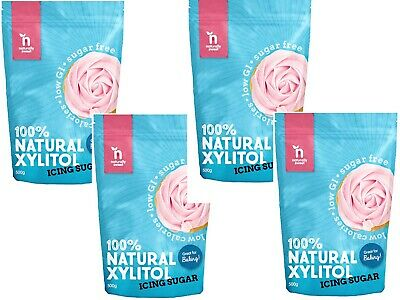 2kg Naturally Sweet XYLITOL ICING SUGAR 100% Natural Sweetener ( 4 x 500g Deal)