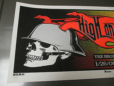 2006 HIGH ON FIRE Silkscreen POSTER VF+ 25x11 Martin Diesel Fuel S/N #197/200