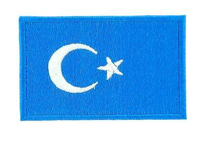 Patch écusson brodé Drapeau ouïghour turkestan Thermocollant Backpack sac à dos