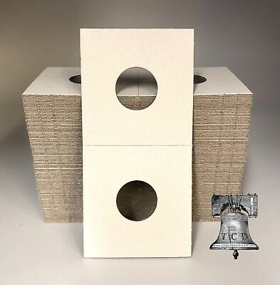 500 Penny 2x2 Mylar Cardboard Coin Holder Display Storage BCW Cent Flip 19mm