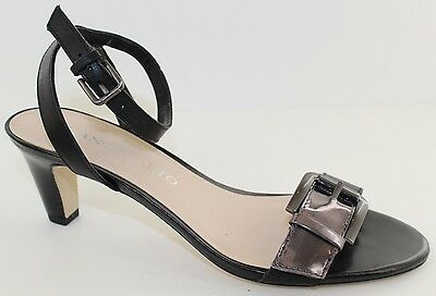 d427b51ee06b Franco Sarto Tarry Womens Black   Chrome Leather Ankle Strap Heel Sandals  Size 6
