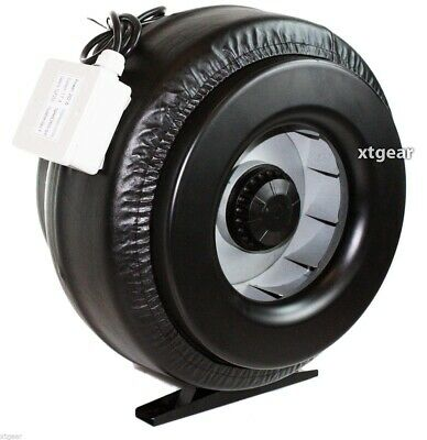 "New 10"" Inline 760CFM Duct Fan Vent Exhaust Air Cooled Hydroponic Fan Blower"