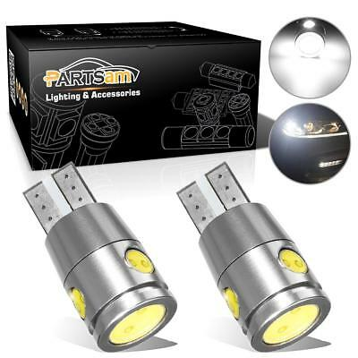 2pcs White Canbus Error Free T10 Cree LED Reverse Back up Light Bulbs High Power