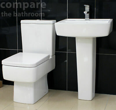 Designer Basin and Toilet Set with Soft Close Seat Option Lifetime Guarantee