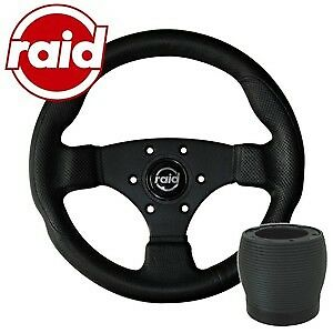 raid Sportlenkrad mit Nabe - 300 mm - BLACK EDITION - VW Polo 86C/6N + Scirocco