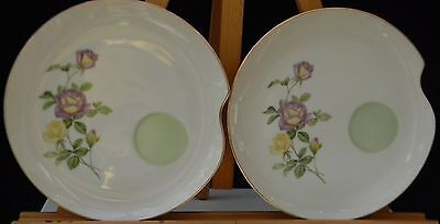 SET OF 2 LEFTON CHINA LUNCHEON PLATES FLORAL ROSE PATTERN