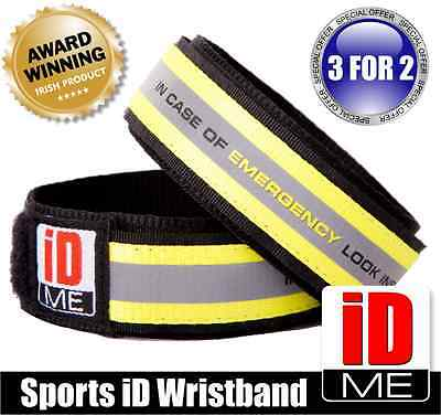 Sports wristband Medical Safety ID bracelet swimming running cycling fitness gym