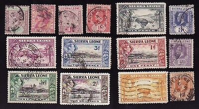 Stamps   British Colonies & Territories   Sierra Leone * Lot 14 Stamps