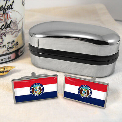 Missouri Flag Cufflinks & Box
