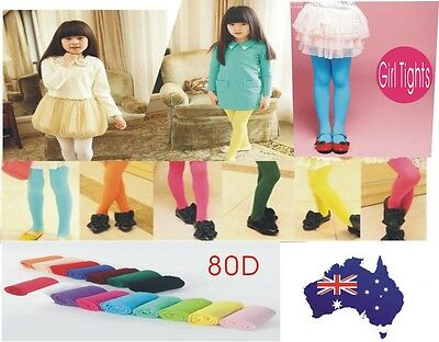 Girl Kid Tight Pantyhose Hosiery Stocking  Ballet Dance Toddler Warm 80D