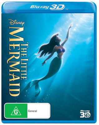 The Little Mermaid (Walt Disney) 3D Blu-ray Region B Brand New!