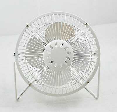 Portable Mini White Fan USB Desk HOme Office Summer Cooling Cool 8 Inch Small