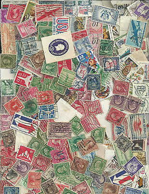 Over 1000 Used US Stamps Off Paper Mix From  Many Unsearched Collectors' Hoards