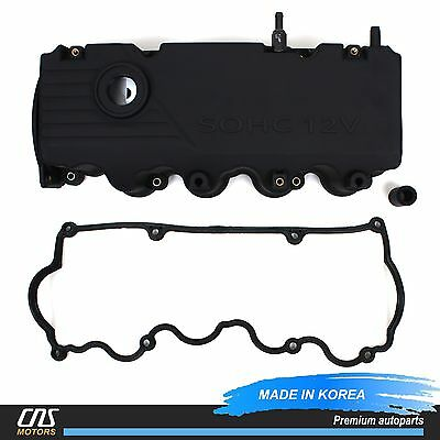 Valve Cover & GENUINE Gasket + PCV Valve for 2000-2002 Hyundai Accent 1.5L SOHC