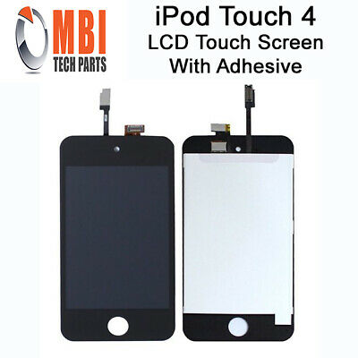Replacement LCD Digitizer Touch Screen for iPod Touch 4 4th Gen Black + Adhesive