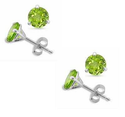 1/2ct ROUND SOLITAIRE STUD EARRING SCREW BACK SOLID 14K WHITE GOLD