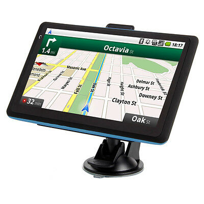 """NEW 7""""LCD Built-in 4GB TF Car GPS Navigator Mexico Canada and USA Map Blue edge"""