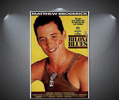 Biloxi Blues Matthew Broderick Vintage Movie Poster - A1, A2, A3, A4 Sizes