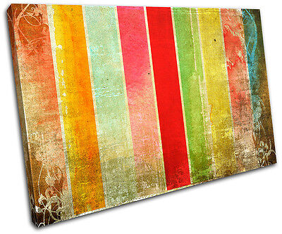Abstract Fence Funky  SINGLE CANVAS WALL ART Picture Print VA
