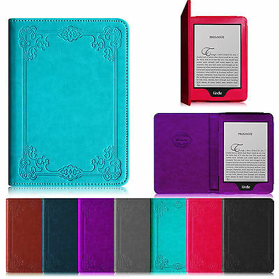 """For 6"""" Amazon All New Kindle Paperwhite Case Book Style Cover Auto Wake/Sleep"""